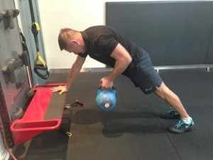 Bent Over Row at a 45 degree angle - stabilisation style